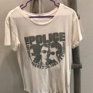 "Junk food ""the police"" band tee"